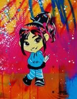 Vanellope Von Street Artist by abcartattack