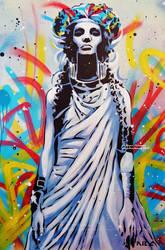 Goddess of Graffiti by abcartattack