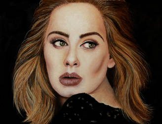 Adele - painting portrait on sale by Dona90