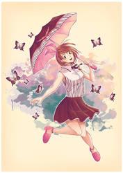 Umbrella Girl 2 Butterfly by arashilee
