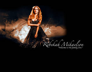 The Originals Rebekah by wedoitinthedark1