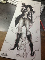 Zatanna big sketch by QuetzalRevolver