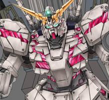 Unicorn Gundam WIP 4 by alphaleo14