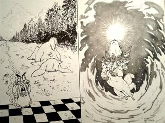 Inktober 7-8 by Almy-Nol