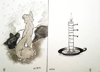 Inktober 13-14 by Almy-Nol