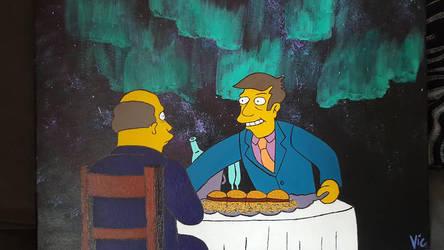 The Simpsons - Steamed Hams - Aurora Borealis by Vicolart