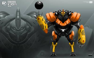 Robot Masters: Bomb Man by rubendevela