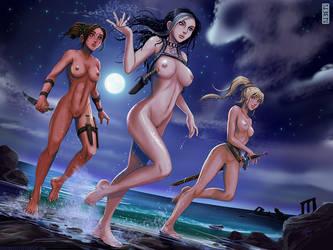 Talia, Snow and Danielle by rubendevela