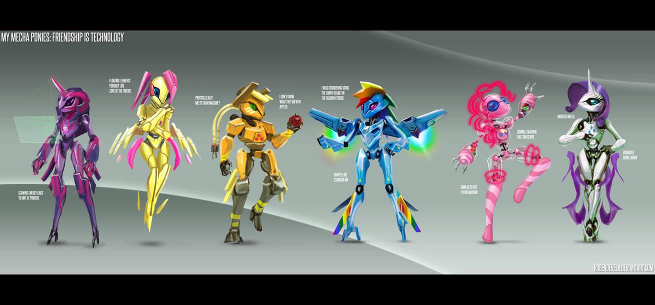 My Mecha Ponies by rubendevela