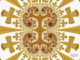 Fractal Golden Crosses by bryceguy72