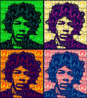 Hendrix / Warhol tribute by bryceguy72
