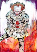 Pennywise (IT) INKTOber 2017 by SuzCerna