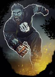 Running Zombie by aldersonillustration