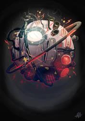 Futuristic Time Machine by aldersonillustration