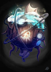 Sky Pirate Time Machine by aldersonillustration