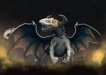 Dinosaur Dragon by aldersonillustration
