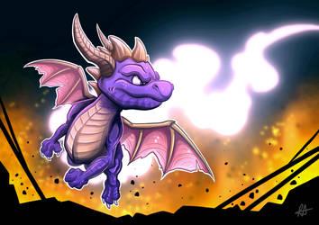 Spyro Fan Art by aldersonillustration