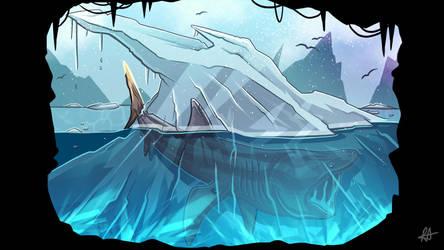 Ice Shark - 4/50 by aldersonillustration