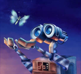 Wall-e by BirdSophieBlack