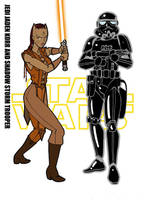 Jaden Korr and Shadow Trooper by Inspector97