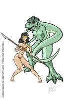 Tyrannus and Aiela by Inspector97