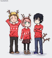 Christmas with Team 7 by soulhates