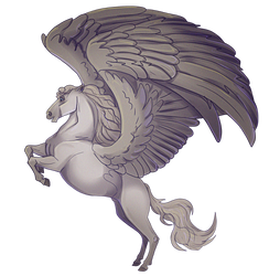 Silver Grey Pegasus by 4TheLoveOfAnimation
