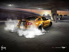 Ford Mustang GT 2010 Back by TheCarloos