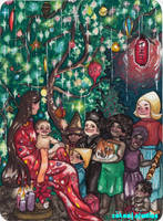 Joy to the world! A Christmas card -- by Mary by Zakanj-Studios