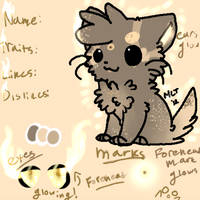 Cute adoptable cat with ref! by CatEyes-To-CatTails