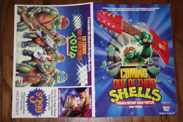 tmnt coming out of their shells  tour book by michaelaw1