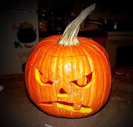 Cranky Pumpkin by GraceJediHeart