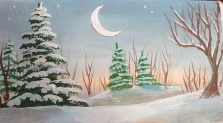 Winter Moon by GraceJediHeart