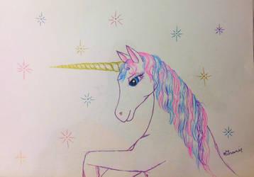 Gel Pen Unicorn by GraceJediHeart