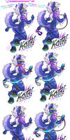COM: 'Evolving' Deluxe Con-Badge for Koth! by carnival