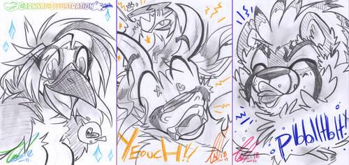 COM: Bust Sketch batch! by carnival