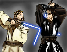 Star Wars: Anakin vs. Obi-wan by dartbaston