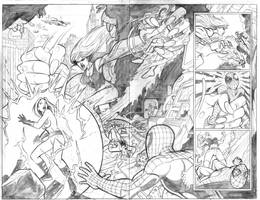 Ultimate Spiderman 18 and 19 by adampedrone8