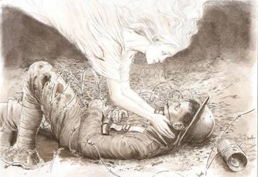 did he die alone..? by JesusFood