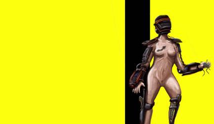 Robot girl by melonsmasher
