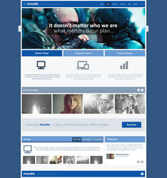 Moodle: Modern and Minimalistic PSD Template by esr360