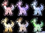 CHEAP! Pastel Adopts 3/6 OPEN by MacabreBurtonAdopts