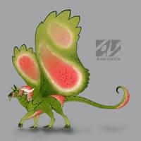 Dragon design: watermelon by AverrisVis