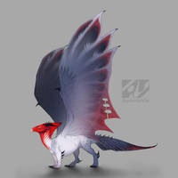 Dragon design: Red-crested cardinal by AverrisVis