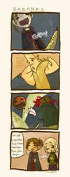 this comic is B A N A N A S by remedygrey