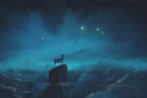 Aries Constellation Painting (Zodiac Set) by ShootingStarLogBook
