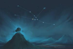 Taurus Constellation Painting (Zodiac Set) by ShootingStarLogBook