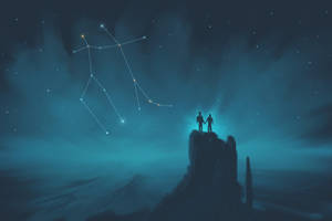 Gemini Constellation Painting (Zodiac Set) by ShootingStarLogBook
