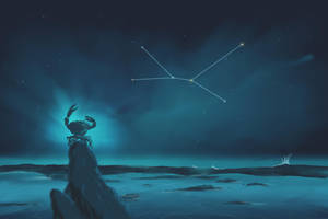 Cancer Constellation Painting (Zodiac Set) by ShootingStarLogBook