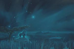 Leo Constellation Painting (Zodiac Set) by ShootingStarLogBook